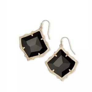 Kendra Scott Kirsten Drop Earrings in Black Opaque